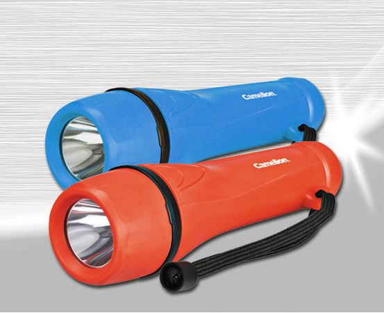 Rubber Flashlight 1 Led 2aa Torches Mobile Lights